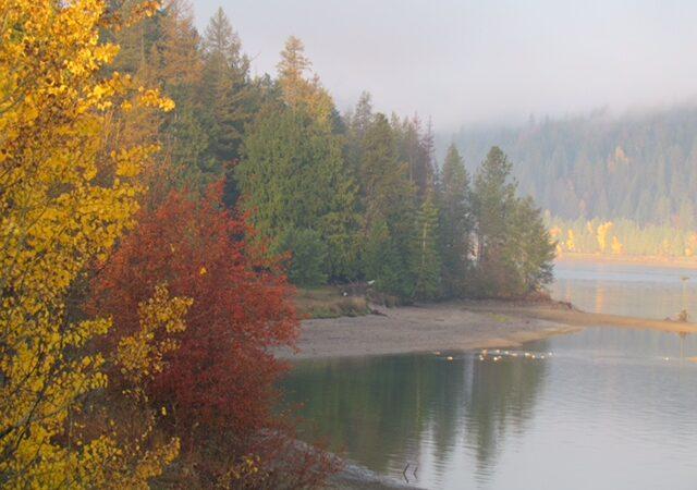 Beautiful Fall morning on river