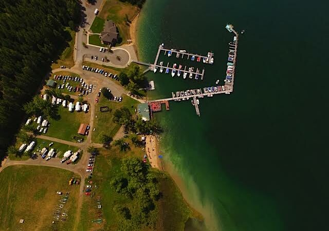 Overview of Marina, Restuarant RV campground