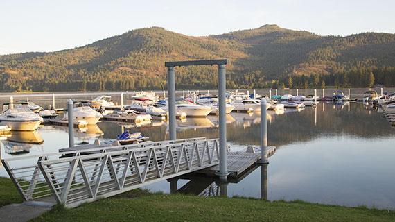 Ramp to personal watercraft parking