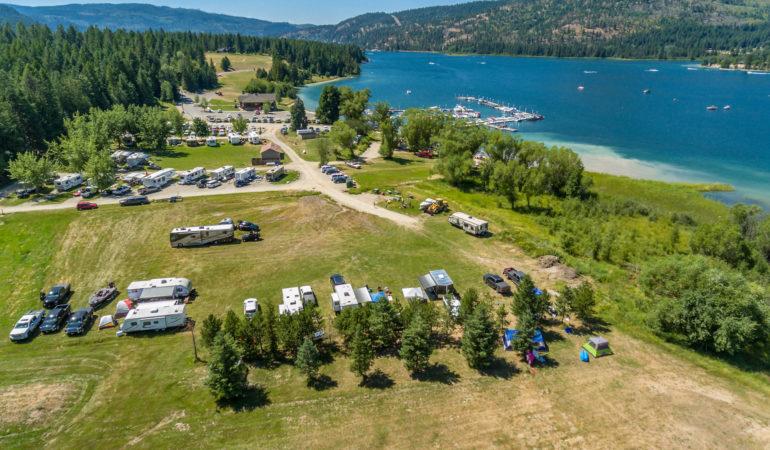 Busy Summer day at Willow Bay Idaho